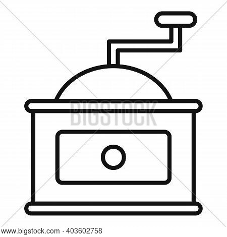 Coffee Grinder Icon. Outline Coffee Grinder Vector Icon For Web Design Isolated On White Background