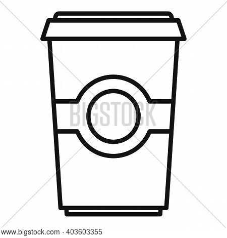 To Go Coffee Cup Icon. Outline To Go Coffee Cup Vector Icon For Web Design Isolated On White Backgro