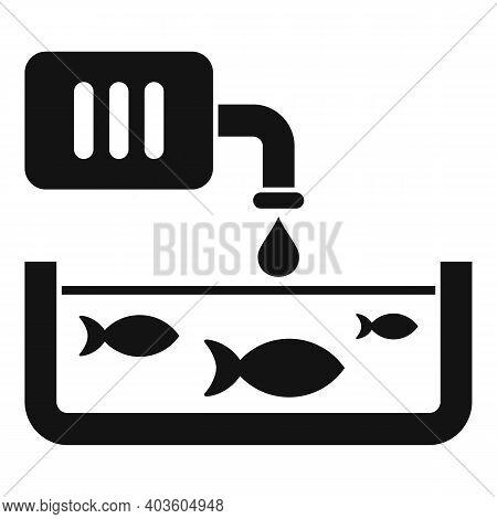Domestic Fish Farm Icon. Simple Illustration Of Domestic Fish Farm Vector Icon For Web Design Isolat