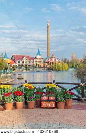 Amusement Park - Sochi Park, March 26, 2020, Adler, Russia.