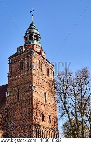 Belfry Of The Gothic Church In Osno In Poland