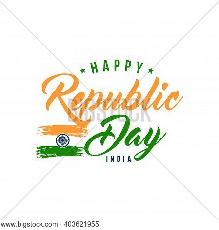 Happy Republic Day Background Design, 26th January Background Vector Illustration.