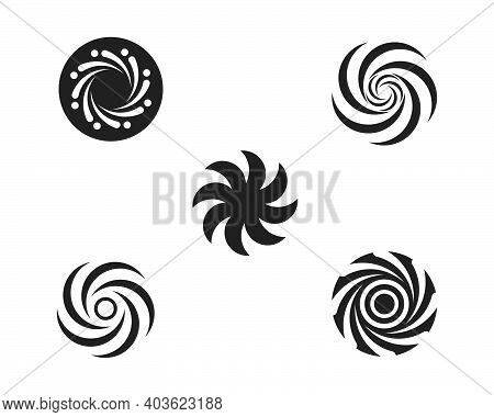 Vortex Logo Icon Wave And Spiral Vector