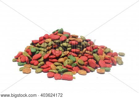 Food For Cats On White Background With Clipping Path.