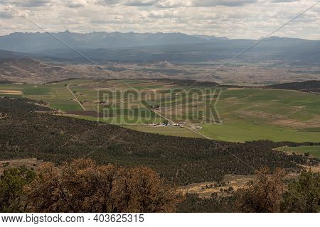 Farmland Just Out Side Black Canyon Of The Gunnison National Park