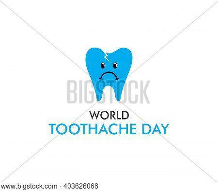 Vector Illustration Of World Toothache Day Poster Design