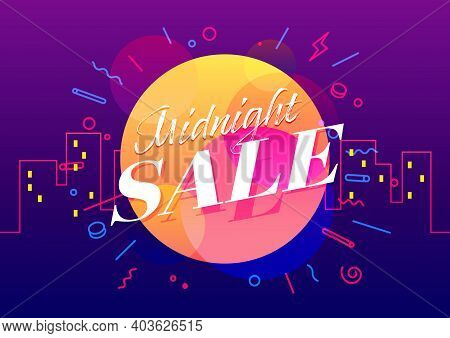 Midnight Sale Banner Template Design, Big Sale Special Offer.