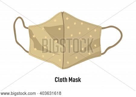 Cloth Mask With Straps, Handmade Face Covering