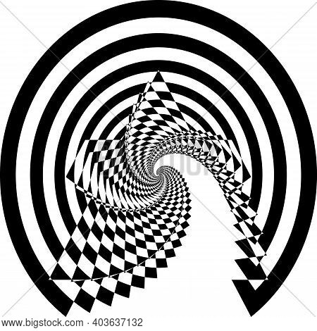 Intersected Trajectory Festive Tree Stairs Perspective Illusion Abstract Background Black On Transpa