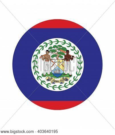 National Belize Flag, Official Colors And Proportion Correctly. National Belize Flag.