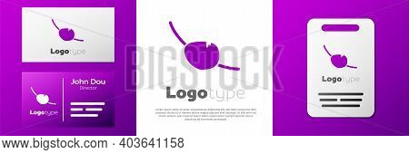 Logotype Pirate Eye Patch Icon Isolated On White Background. Pirate Accessory. Logo Design Template