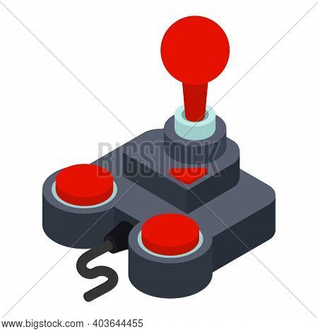 Game Controller Icon. Isometric Of Game Controller Vector Icon For Web Design Isolated On White Back