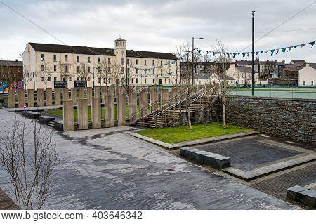 Derry, Northern Ireland- Jan 16, 2020: Ebrington Square  In Derry City, Northern Ireland