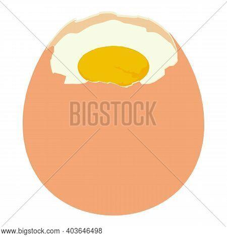Fresh Boiled Egg Icon. Isometric Of Fresh Boiled Egg Vector Icon For Web Design Isolated On White Ba