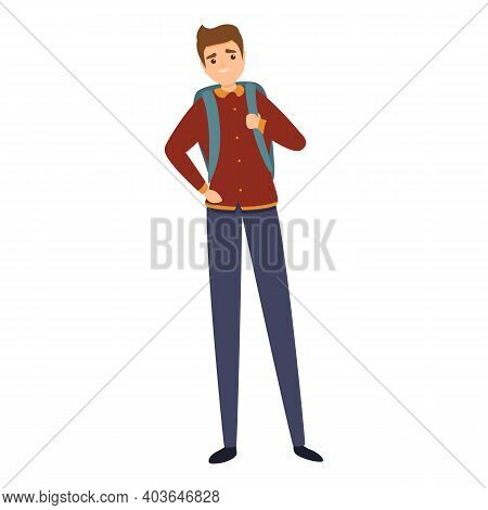 Student Uniform Icon. Cartoon Of Student Uniform Vector Icon For Web Design Isolated On White Backgr