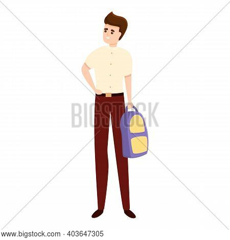 Academy Uniform Icon. Cartoon Of Academy Uniform Vector Icon For Web Design Isolated On White Backgr