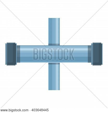 Pvc Pipe Icon. Cartoon Of Pvc Pipe Vector Icon For Web Design Isolated On White Background