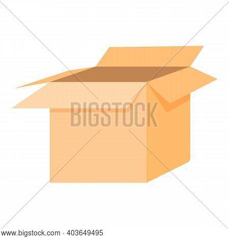 Carton Box Icon. Cartoon Of Carton Box Vector Icon For Web Design Isolated On White Background