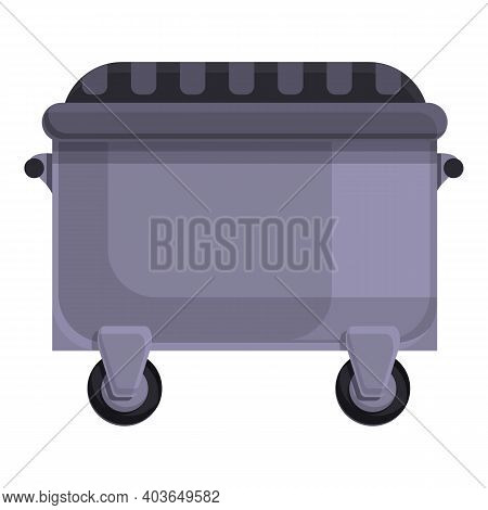 Dustbin Icon. Cartoon Of Dustbin Vector Icon For Web Design Isolated On White Background