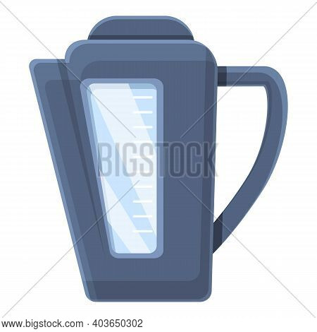 Electric Kettle Icon. Cartoon Of Electric Kettle Vector Icon For Web Design Isolated On White Backgr