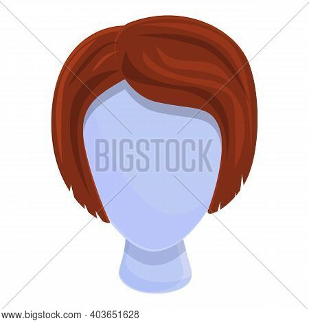 Short Wig Icon. Cartoon Of Short Wig Vector Icon For Web Design Isolated On White Background