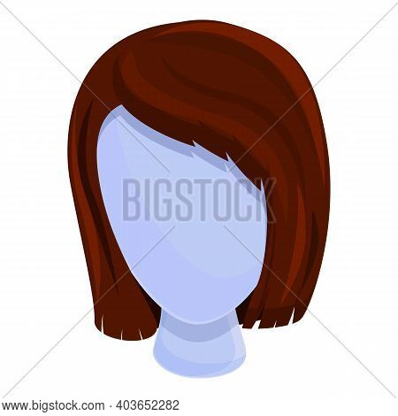Actress Wig Icon. Cartoon Of Actress Wig Vector Icon For Web Design Isolated On White Background