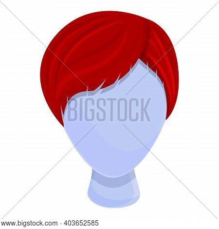 Model Wig Icon. Cartoon Of Model Wig Vector Icon For Web Design Isolated On White Background