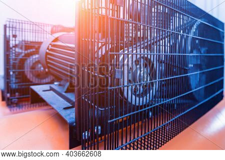 Metal Industrial Air Conditioning Vent. Hvac. Ventilation Fan Background