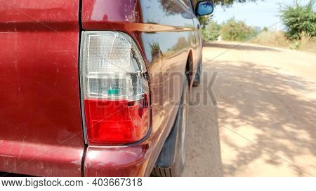 Taillight Of Car Have Been Broken In An Accident.