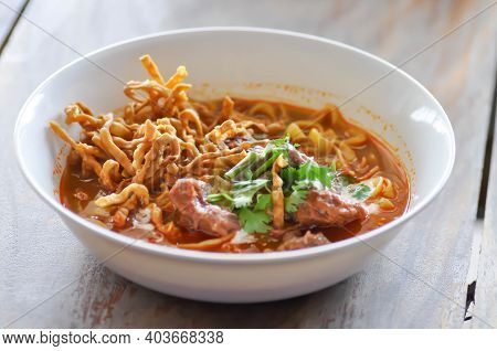 Noodles Or Beef Curry Noodles, Thai Curry Noodles Or Beef Noodles