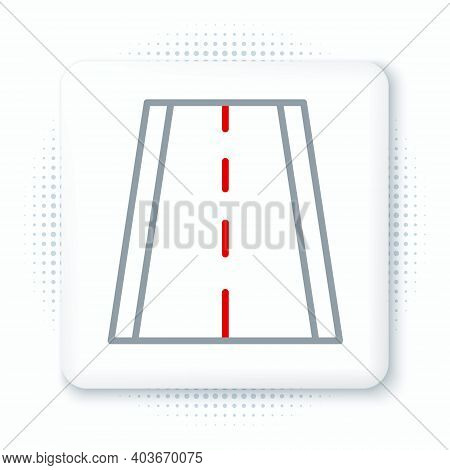 Line Special Bicycle Ride On The Bicycle Lane Icon Isolated On White Background. Colorful Outline Co