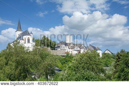 Idyllic Medieval Village Of Reifferscheid In The Eifel,germany