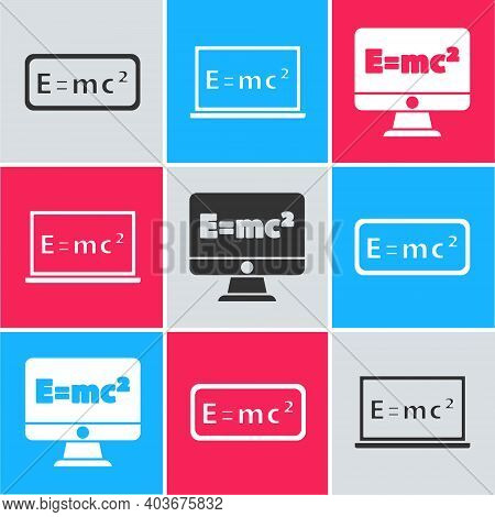 Set Equation Solution, Equation Solution And Equation Solution Icon. Vector