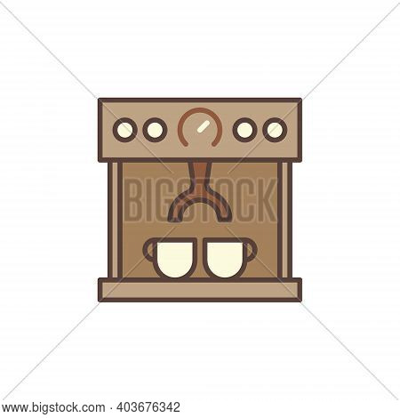 Coffee Machine Maker Vector Concept Brown Icon Or Logo Element