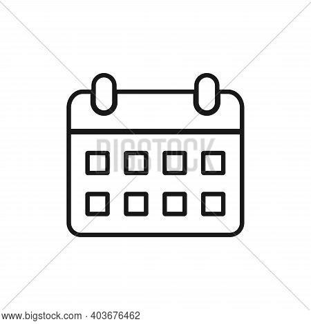 Calendar Icon  Isolated On White Background, Calendar Icon Vector Flat Modern, Calendar Icon, Calend