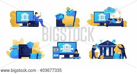 Online Banking. Business And Fintech Concepts. Digital Innovation Of Bank Services. Financial Applic