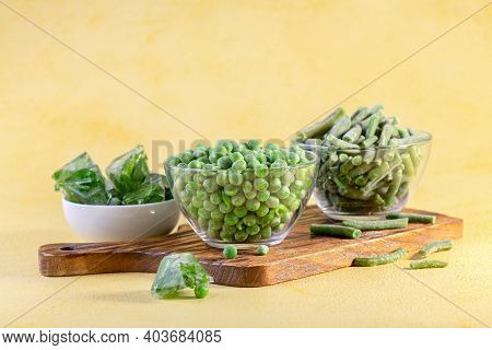 Shock Freezing Of Green Peas And String Beans.