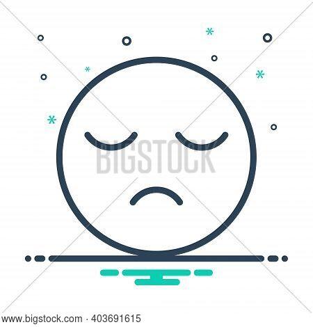 Mix Icon For Sleepy Sluggish Slack Lingering Lethargic