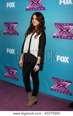 LOS ANGELES - DEC 17:  Carly Rose Sonenclar at the 'X Factor' Season Finale Press Conference at CBS Television City on December 17, 2012 in Los Angeles, CA