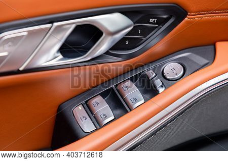 Windows And Mirror Controller In Interior Of A Car