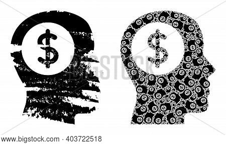 Vector Bank Thinking Fractal Is Done Of Repeating Fractal Bank Thinking Items. Textured Bank Thinkin