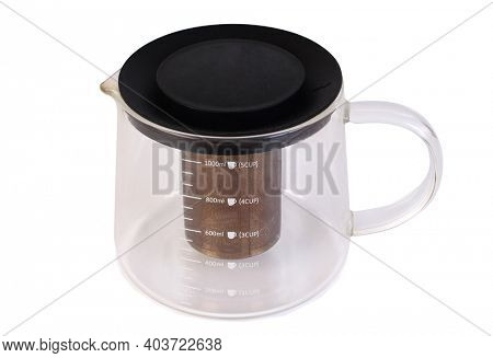 Coffee glass bowl. Isolated object on white background