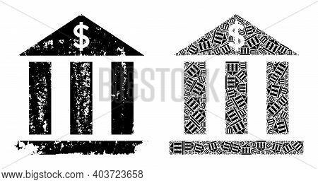 Vector Dollar Bank Mosaic Is Constructed From Randomized Recursive Dollar Bank Elements. Rough Dolla