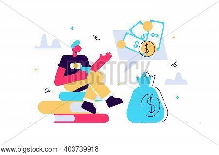 Vector Illustration, Financial Problems, Economic Crisis, Business