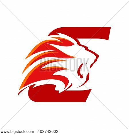 Bold And Strong Illustration Logo Design Initial C Combine With Lion Head, Make Your Company Look Br