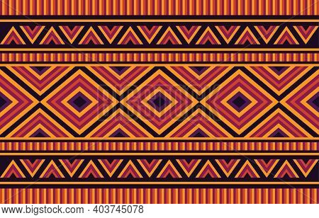 African Tribal Ethnic Pattern Seamless Traditional Design For Background, Carpet, Wallpaper, Wrappin