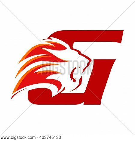 Bold And Strong Illustration Logo Design Initial G Combine With Lion Head, Make Your Company Look Br