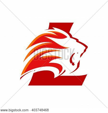 Bold And Strong Illustration Logo Design Initial L Combine With Lion Head, Make Your Company Look Br