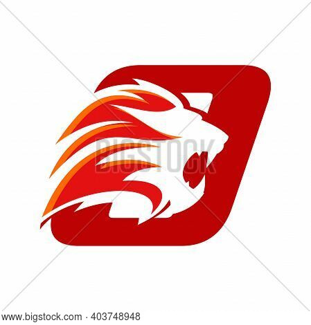 Bold And Strong Illustration Logo Design Initial O Combine With Lion Head, Make Your Company Look Br