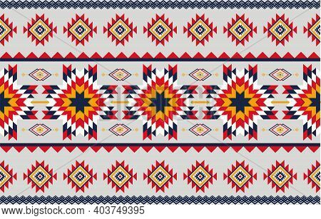 Abstract Art Geometric Native Pattern Seamless Vector.repeating Geometric Background.modern Design T